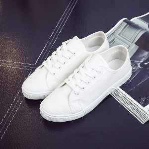 Дамски кецове бели дамски обувки плоски бели обувки ежедневни кецове