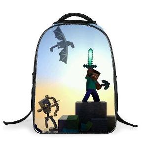 Детски 3D анимационни цветни раници на Minecraft за училище подходящи за момчета и момичета в няколко модела