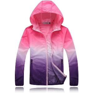 Дамски и мъжки якета слънцезащитни туристически ветровки 19 цветови комбинации