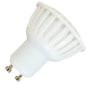LED Крушка - 7W GU10 Пластик Топло Бяла Светлина