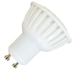 LED Крушка - 7W GU10 Пластик Бяла Светлина