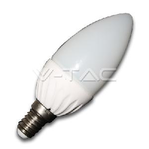 LED Крушки - 4W E14 Пламък Бял