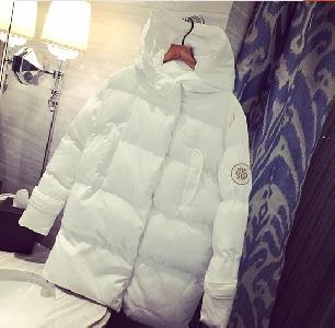 Дамски зимни якета в бял и черен цвят подходящи за ежедневие - 2 модела