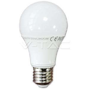 LED Крушка - 10W E27 A60 Термо Пластик Бяла Светлина