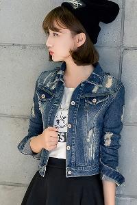 Οι γυναίκες την άνοιξη και το φθινόπωρο σύντομη σακάκια τζιν τύπου slim