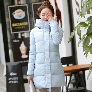 Οι γυναίκες άνετα παχύ χειμώνα κουκούλα σακάκια μοντέλο 7 χρωμάτων