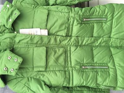 Дебели зимни дамски якета с качулка и пух в червен, сив, черен,зелен и бежов цвят