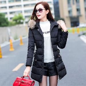 Дълги зимни дамски якета с  качулка и пух тип слим  5 модела
