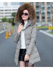 κουκούλες μπουφάν μακρύ χειμώνα γυναικών και λεπτή μοντέλα κάτω τύπου 5