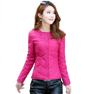 Οι γυναίκες σύντομο μπουφάν slim τύπου χωρίς κουκούλα σε 5 χρώματα μοντέλα