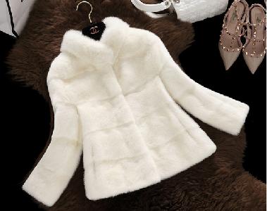 Дамско пухено зимно яке с дълъг тип реглан ръкав бяло, розово, черно