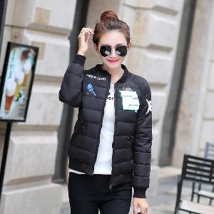 Късо дамско  яке в  червено, черно, бяло, сиво - Missourli carl