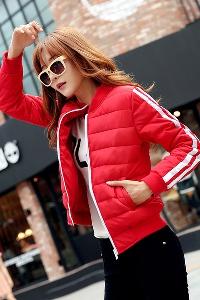 Дамско елегантно късо памучно яке червено, зелено, бяло, черни с ленти есенно пролетно и зимно
