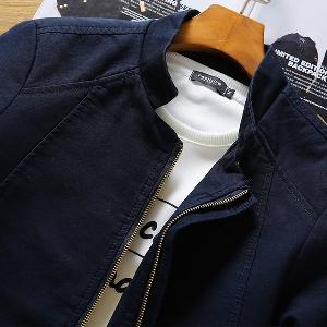 Мъжки дънкови якета в черен,червен,бежов и син цвят тип слим с права яка