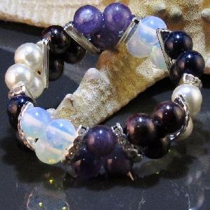 Дамска двойна гривна от естествени камъни - DM-2216