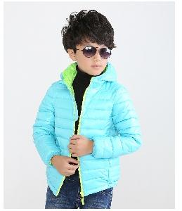 Детски зимни памучни якета за момчета в син,светло син,черен,червен и оранжев цвят.