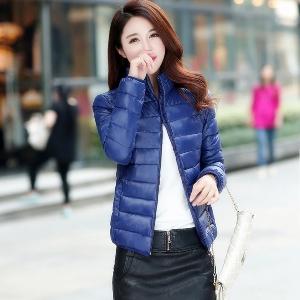 Λεπτές γυναίκες μπουφάν - το φθινόπωρο και το χειμώνα - Μπλε Πράσινο Ροζ Μαύρο.