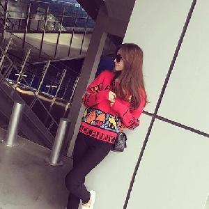 Дамски пуловер с етно мотив