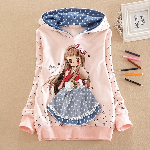 a27c88992ed Παιδικό φούτερ για κορίτσια με ενδιαφέρουσα εκτύπωση σε λευκό και ροζ χρώμα.