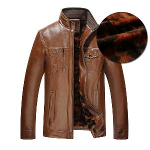 Мъжки есенни и зимни  якета различни нюанси от кафяво към черно с кадифена подплата
