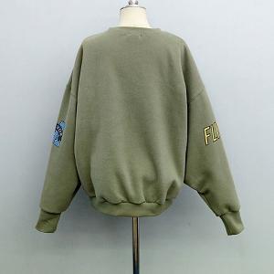 Дамски стилен спортен пуловер в зелен модел