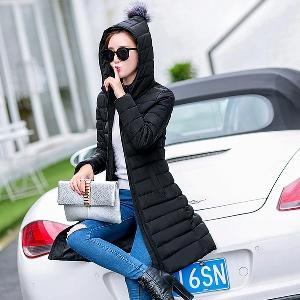 Дамски якета в четири цвята с еко пух на качулката.