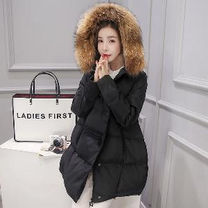 Χειμώνας γυναίκες ευρέως μπουφάν με πούπουλα χήνας σε 5 διαφορετικά χρώματα