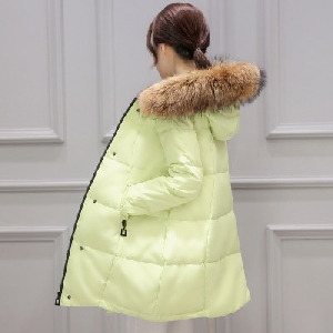 Зимно дамско широко яке с пълнеж от гъши пух в 5 различни цвята