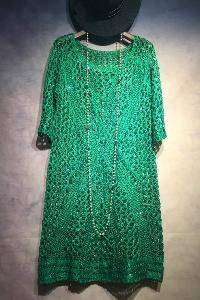 Широк пуловер с 3/4 ръкав - Червен Син Лилав Зелен.