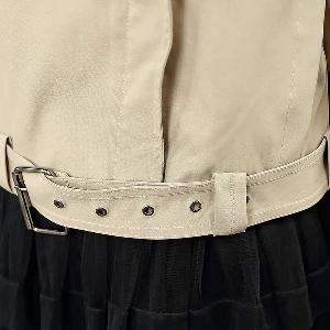 Тънко дамско късо яке с 3/4 ръкави