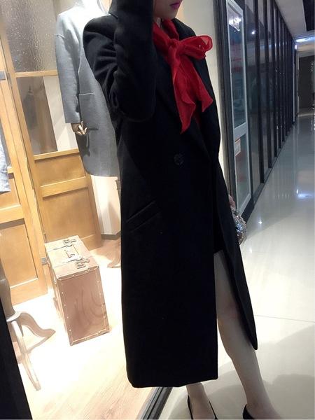 Γυναικείο μακρύ και κομψό μάλλινο παλτό σε 2 σχέδια - κόκκινο και μαύρο  χρώμα - Badu.gr Ο κόσμος στα χέρια σου 501c2ac8e00