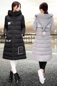 Κομψό μακρύ σακάκι με πάπλωμα από πούπουλα χήνας μπάλα kachulkata- Slim.