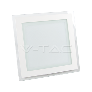 18W LED Панел Стъклено Тяло - Квадратен Модул Бяла Светлина