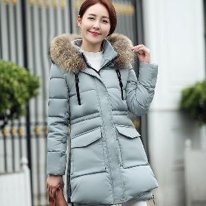 Προσαρμοσμένα χειμώνα παλτό με κουκούλα - Μαύρο, κόκκινο, πράσινο, μπλε χρώμα.