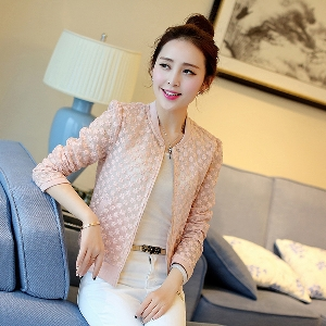 Thin ημιδιαφανές μπουφάν σε ροζ και λευκό.