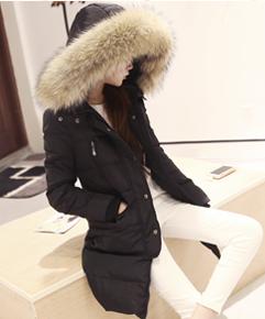 μακρύ παχύ σακάκι Γυναικών γεμιστά με πούπουλα χήνας με κουκούλα με όγκο κάτω