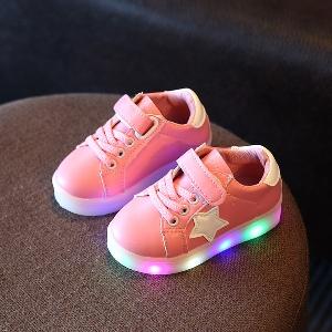 f33ad18dcb7 Παιδικά αθλητικά παπούτσια με φωτάκια για αγόρια κια κορίτσια σε χρώμα  Λευκό, Μαύρο, Ροζ