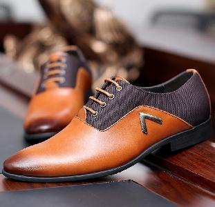 Мъжки Обувки Oxford Истинска Кожа