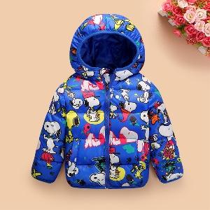Детски шарени зимни, топли якета подходящи за момчета и момичета в различни цветове, с Мики Маус и Гуфи