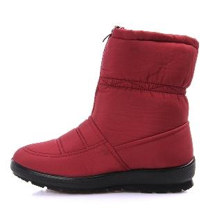 Αδιάβροχες ζεστές γυναικείες μπότες σε 4 χρώματα - κόκκινο, μαύρο, σκούρο μπλε, καφέ
