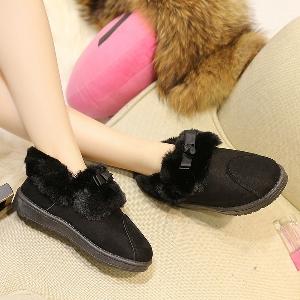 Γυναικείες μπότες μαύρες και γκρι με γούνα