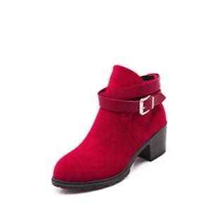 Елегантни дамски боти с каишка в червен, черен и бежов цвят