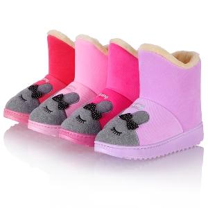 Γυναικείες  μπότες με λαγουδάκι σε ροζ χρώμα
