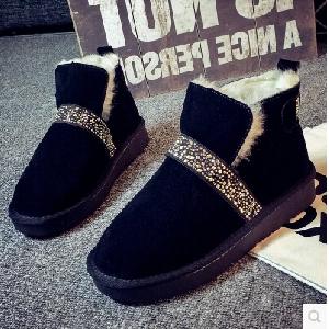 Κομψές γυναικείες μπότες με πέτρες σε μαύρο και καφέ χρώμα