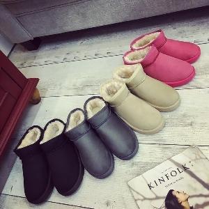 Χειμωνιάτικες γυναικείες μπότες με γκρι, ροζ, μπεζ και μαύρο χρώμα