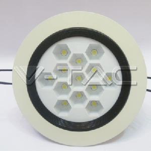 13W LED Луни - Honey Comb Бяло Тяло Топло Бяла Светлина