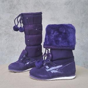 Αντιολισθητικές ζεστές μπότες για χιόνι σε μαύρο, πορφυρό, ροζ, γκρι και σκούρο γκρι χρώμα