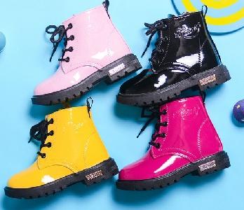 Детски есенни и зимни ботуши за момчета и момичета - черни, жълти, розови, цикламени сини