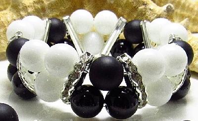 Дамска двойна гривна от естествени камъни Оникс - DM-2228