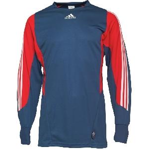 adidas 3 Stripe Mundial Goal Keeper Shirt Uniform Blue/Poppy